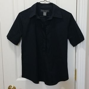 Banana Republic black blouse sz S